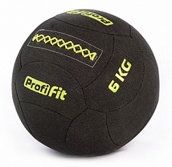 Медицинбол набивной кевларовый Profi-Fit, (Kevlar Wallball) 6 кг | sportres.ru